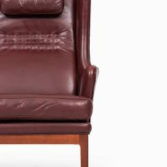 Red Leather Wingback Chair Covers Wholesale Cheap Arne Norell Easy Chairs In Dark By