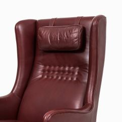Red Leather Wingback Chair Vintage Barber Arne Norell Easy Chairs In Dark By
