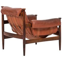 Leather Safari Chair Portable Massage Chairs In Rosewood And Red By Ire Möbler