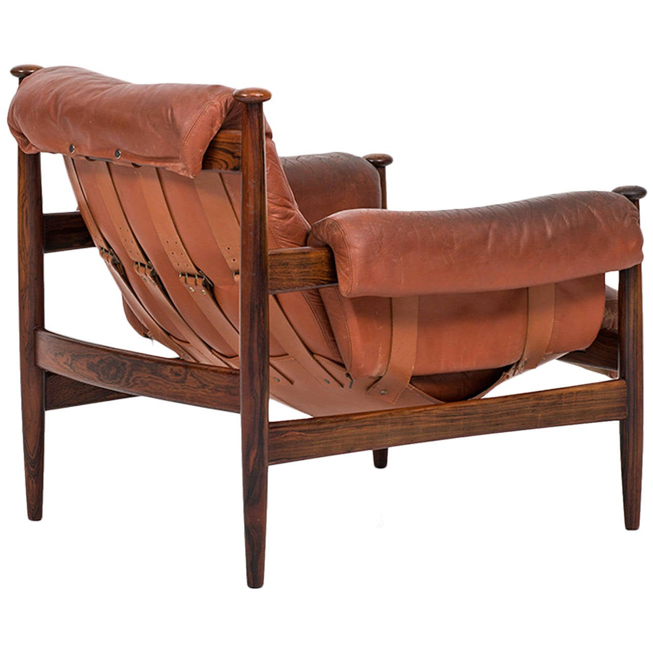 Safari Chair Safari Chair In Rosewood And Red Leather By Ire Möbler In