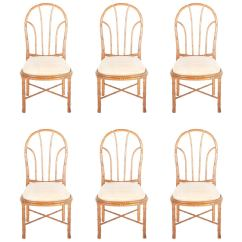 Bamboo Dining Chairs What States Still Use The Electric Chair Style Set Of Six At 1stdibs