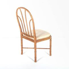 Bamboo Dining Chair Pvc Patio Chairs Style Set Of Six At 1stdibs
