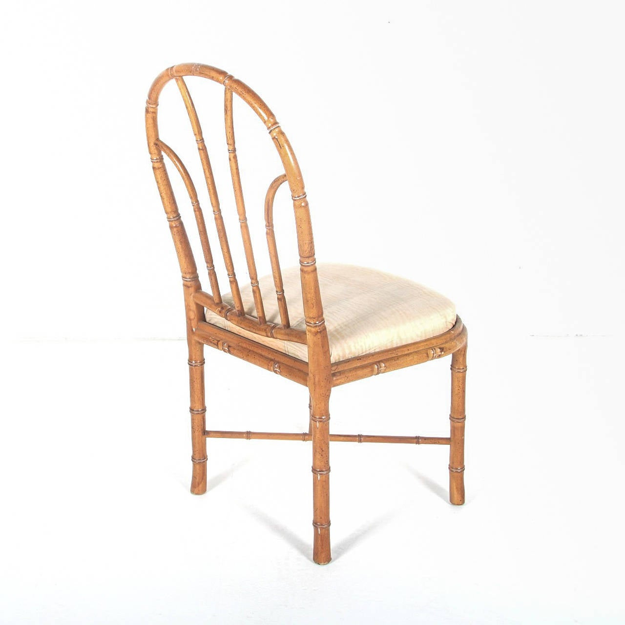 Bamboo Dining Chair Bamboo Style Dining Chairs Set Of Six At 1stdibs