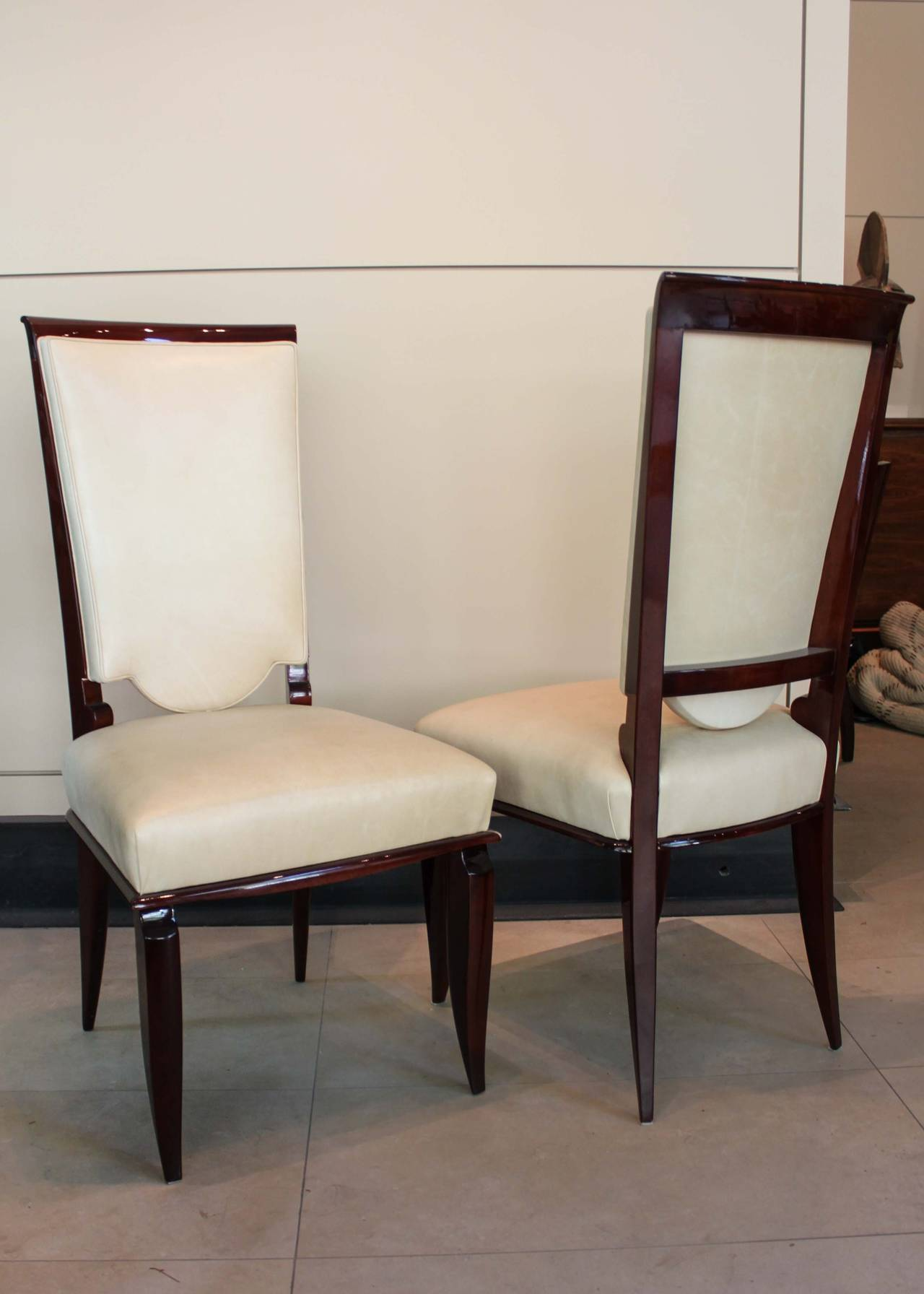 art deco kitchen chairs all modern dining set of six french for sale at 1stdibs