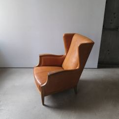 Country Style Wingback Chairs Eames Molded Plastic Chair 1930s In Nigerian Leather And Oak By Frits