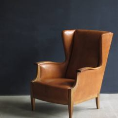 Country Style Wingback Chairs Diy Gym Chair 1930s In Nigerian Leather And Oak By Frits