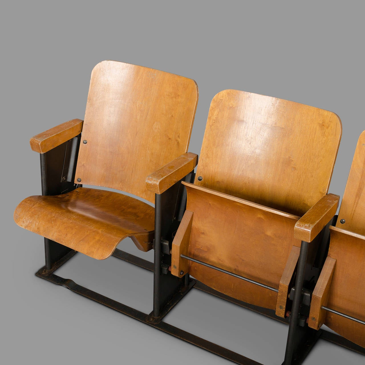 movie chairs for sale sectional chair covers 1950s theater armchairs from a military base at 1stdibs