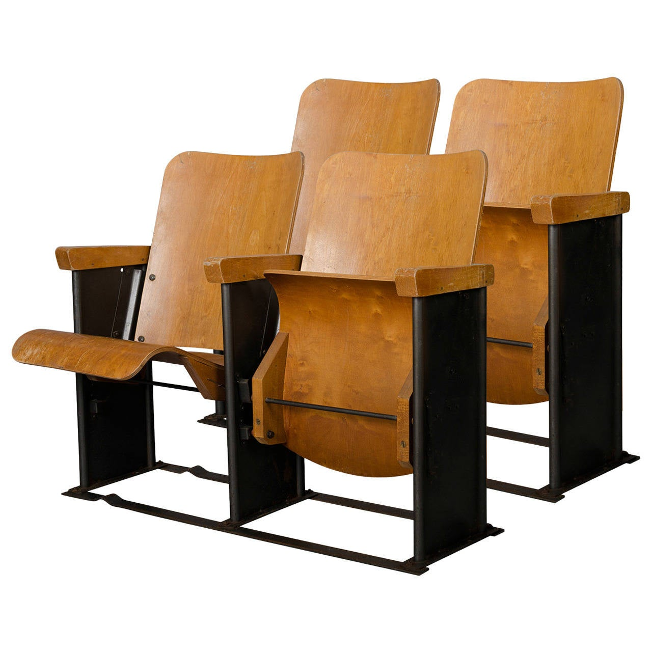movie chairs for sale chair design theory 1950s theater armchairs from a military base at 1stdibs