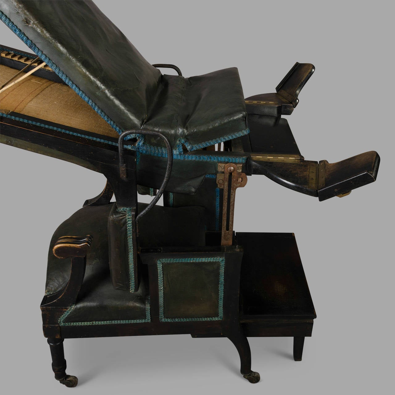 fishing chair for bad back cream desk uk medical mechanical armchair circa 1870 at 1stdibs