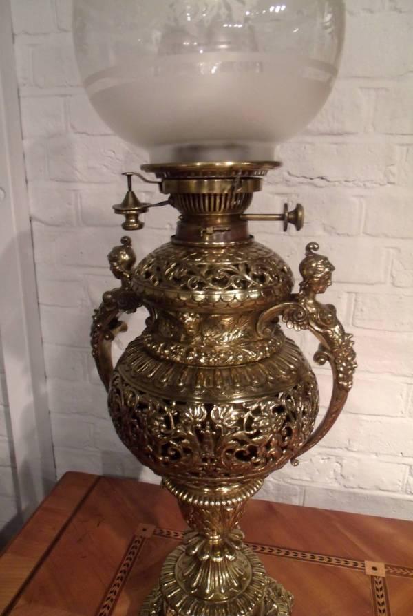 Victorian Brass Oil Lamp 1stdibs