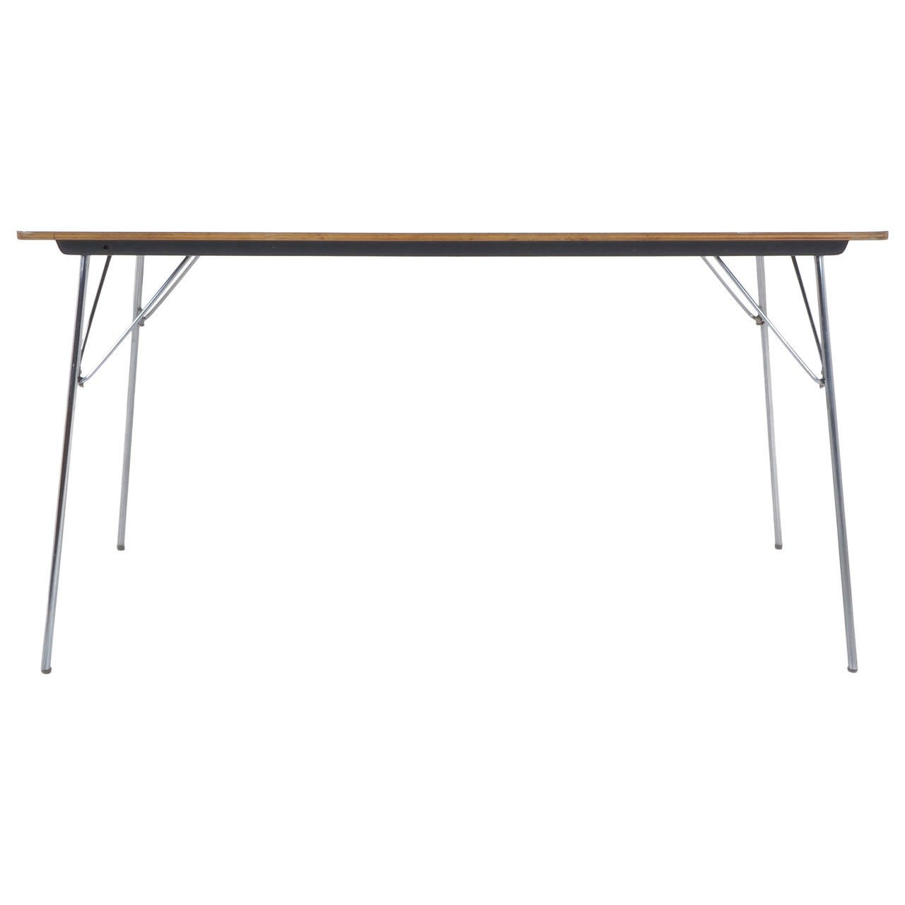 Rare Charles And Ray Eames Folding Leg Dining Table