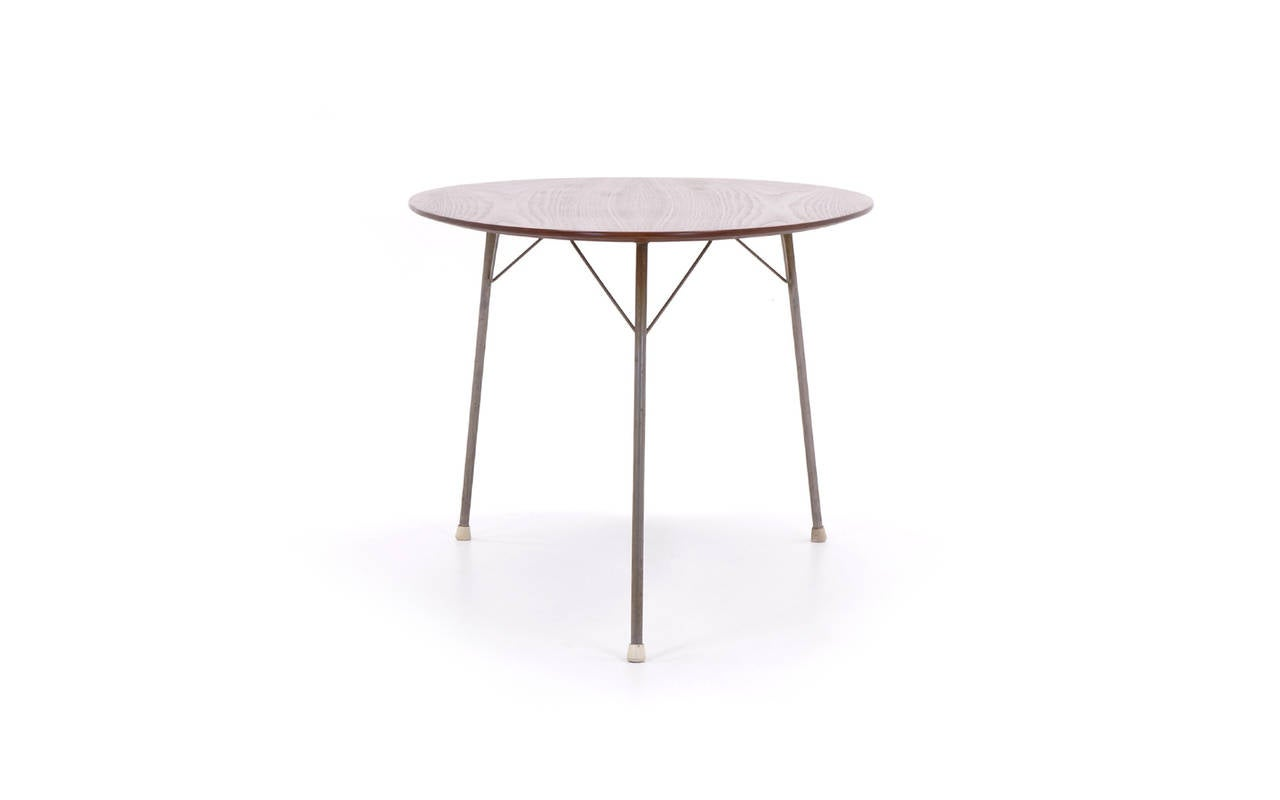 Arne Jacobsen Ant Table Dining Height Rare Three Legged