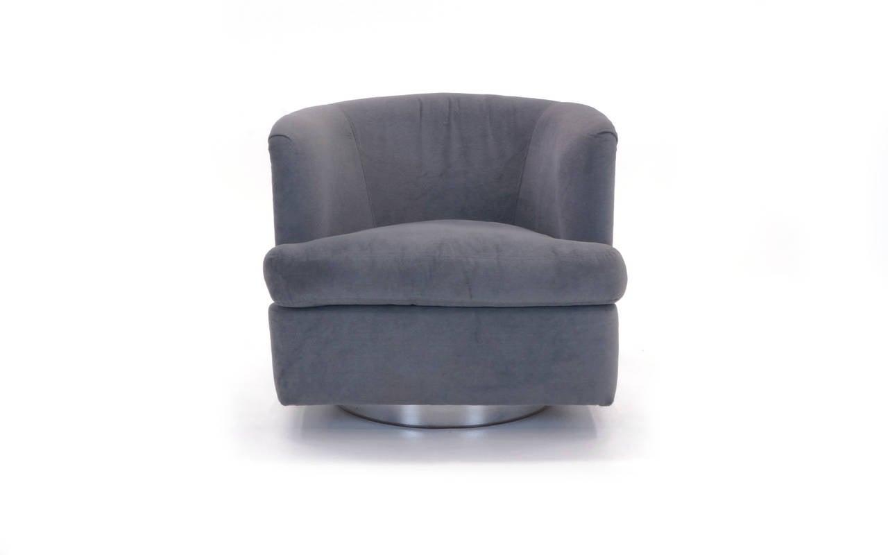 barrel chairs swivel rocker armchair and ottoman slipcover set milo baughman club chair with chrome frame