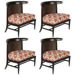 Mid Century Cane Barrel Chair Best Chairs For Gaming Reddit Set Of Four Back Lounge 1960s