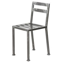 Industrial Style Dining Chairs S Bent Bros Colonial Rocking Chair Welded Steel Minimalist Side
