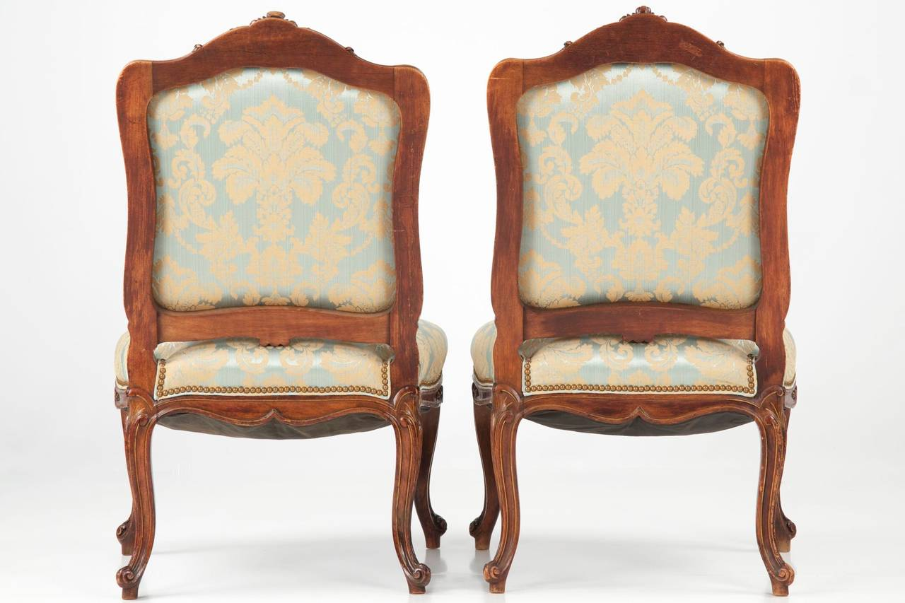 french antique chairs for sale pictures of beach and umbrella pair rococo revival walnut side