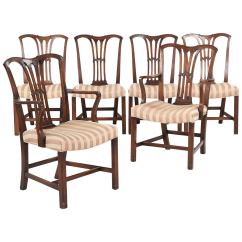 Dining Chair Styles Antique Rocking Conversion Kit Set Of Six Chippendale Style Chairs 19th