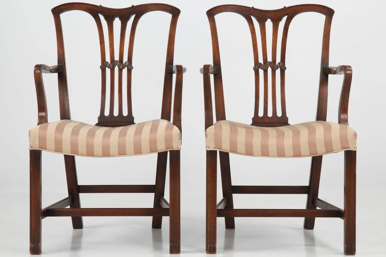 chippendale dining chair outdoor chairs home depot set of six style antique 19th