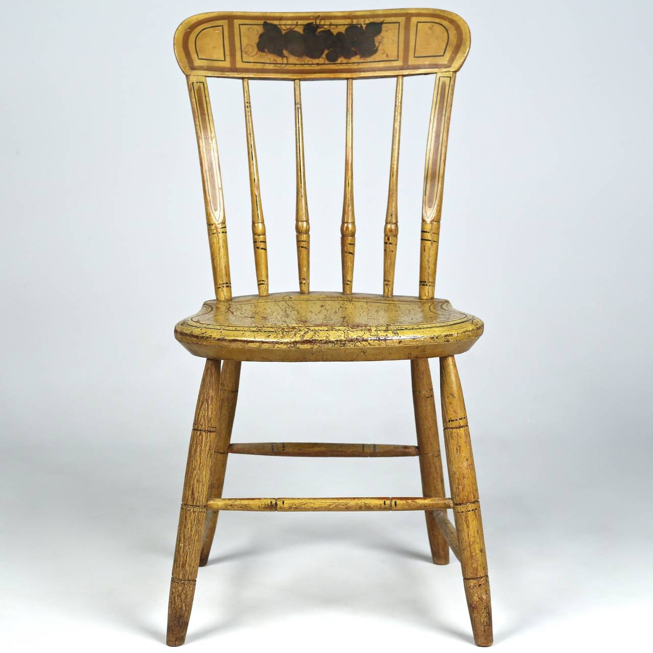 diy painted windsor chairs black kitchen cheap pair of american yellow side