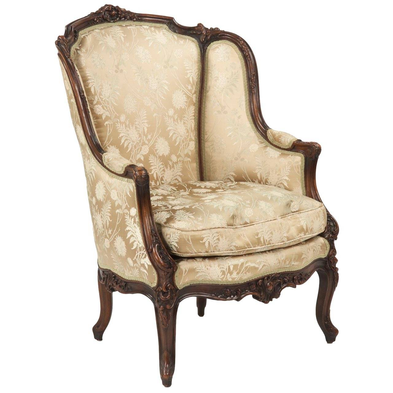 Queen Anne Wingback Chair Antique Queen Anne Wingback Chair