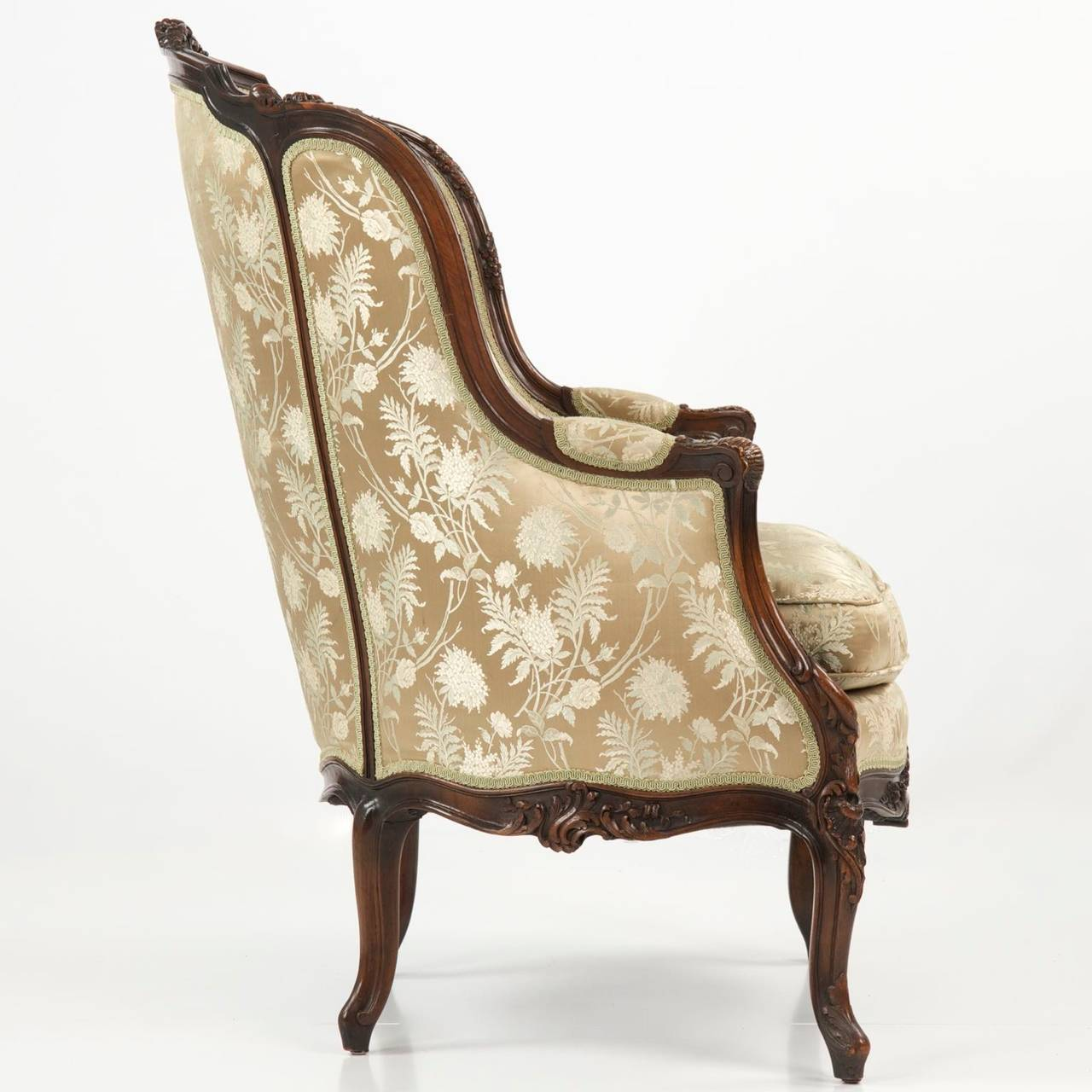 louis xv chair chairs that rock swivel and recline 19th century rococo revival antique bergere armchair in french taste for sale