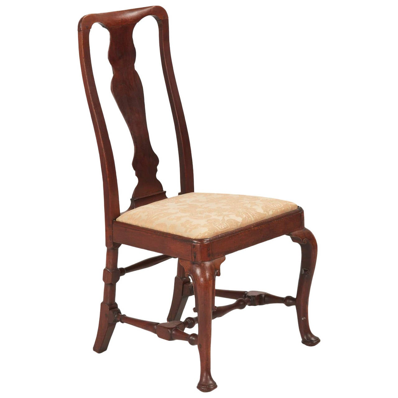 antique queen anne chair office back support for pregnancy walnut side circa 1725 1740 at