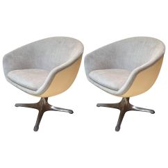 Egg Chair Pod School Desk And Pair Of Mid Century Ball Or Swivel Chairs From