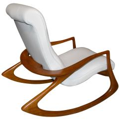 Vladimir Kagan Rocking Chair Small Plastic Contour In Leather At 1stdibs
