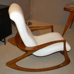 Vladimir Kagan Rocking Chair Mickey Mouse Clubhouse Bean Bag Quotcontour Quot In Leather At 1stdibs