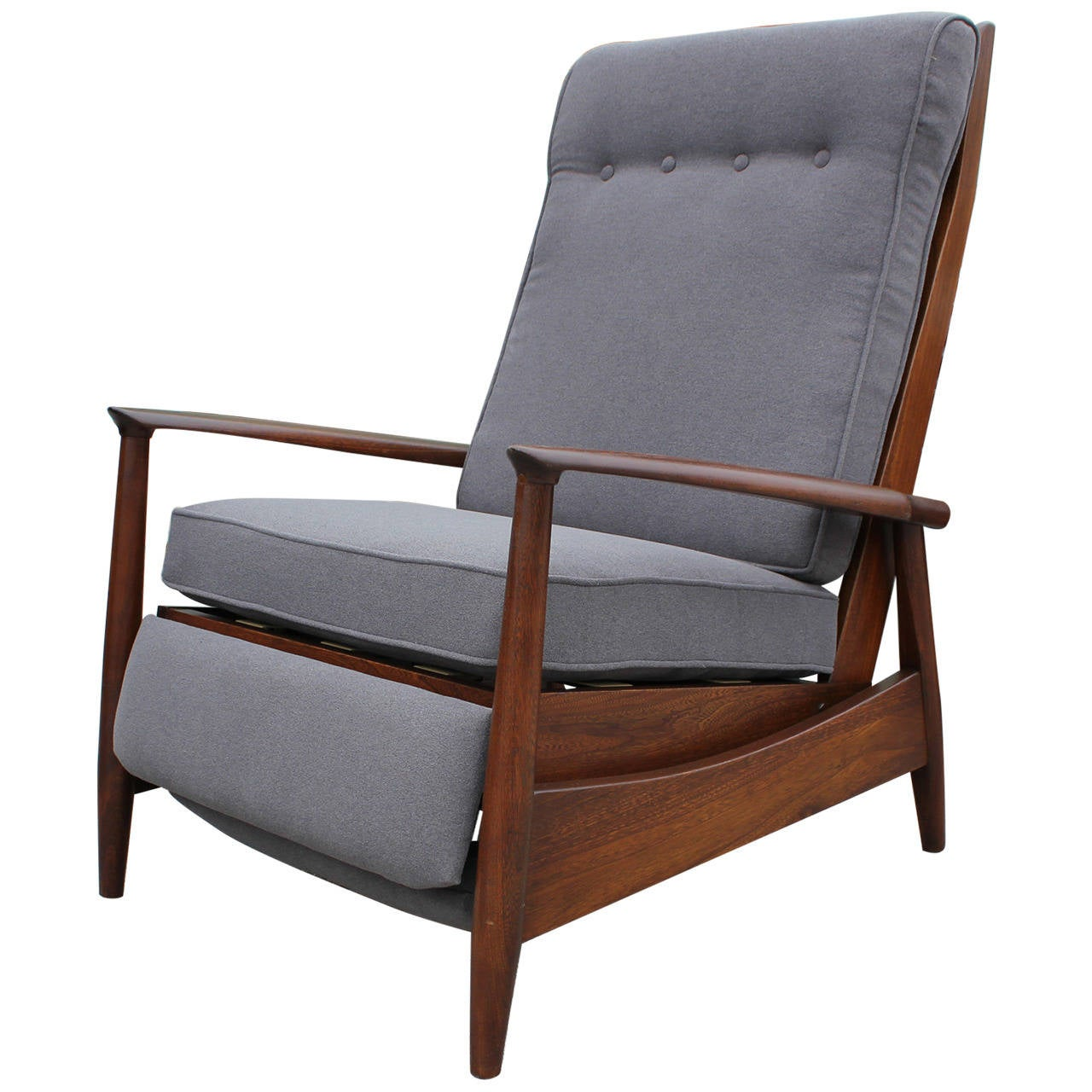 recliner club chair metal stackable chairs scandinavian reclining lounge at 1stdibs