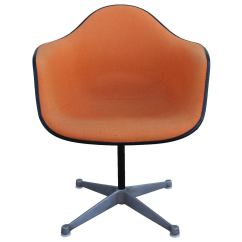 Orange Bucket Chair Xmen Guy In Wheelchair Pair Of Herman Miller Eames Swivel Chairs At 1stdibs