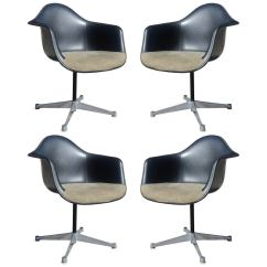 Eames Bucket Chair Cover Hire North East England Set Of Four Herman Miller Swivel Chairs At