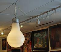 Giant Light Bulb Pendant Hanging Light Fixture at 1stdibs