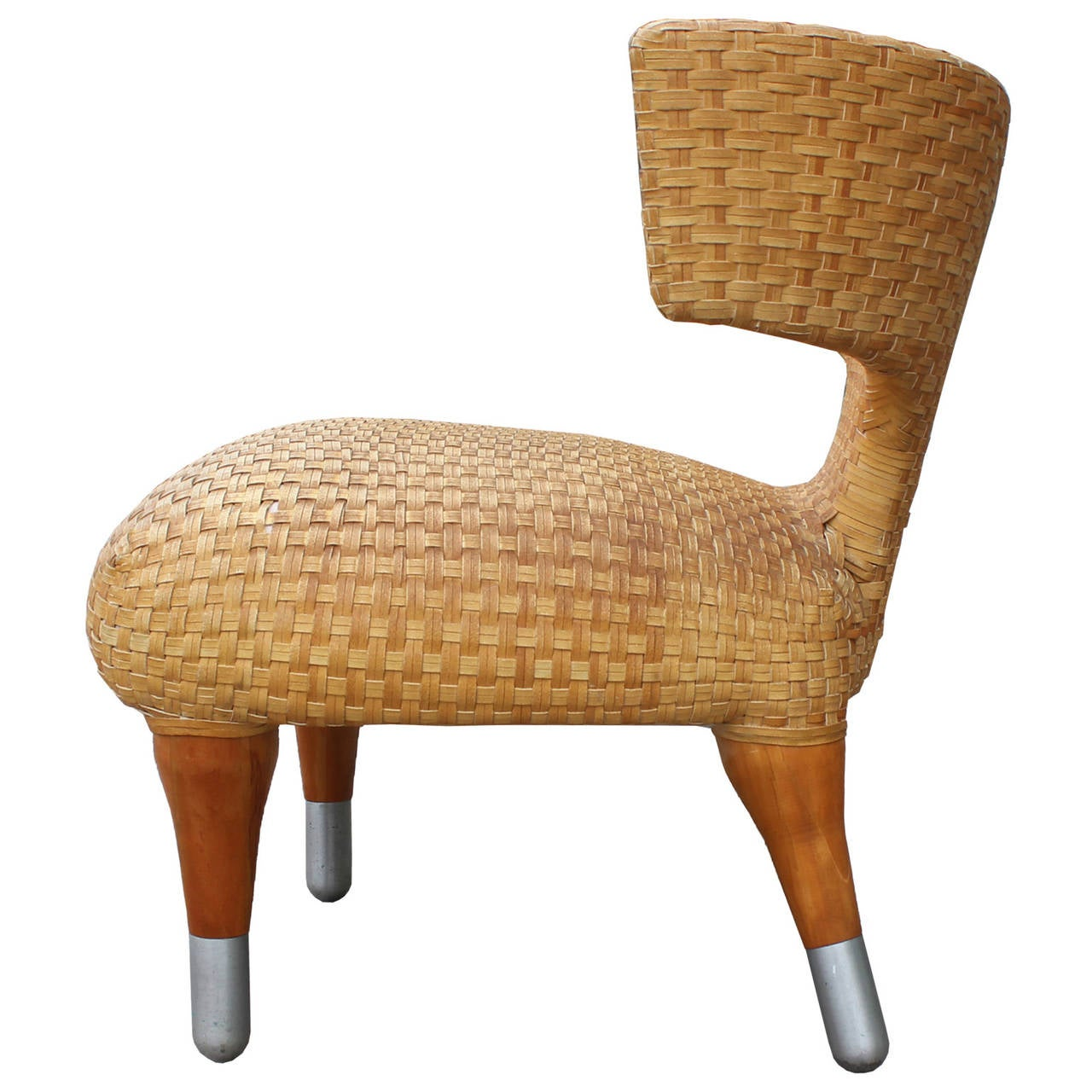 Leather Woven Chair Klismos Side Chair In Woven Leather At 1stdibs