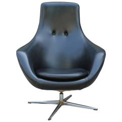 Swivel Chair Egg Sling Spring Patio Chairs Mid Century Modern Overman Style In Black