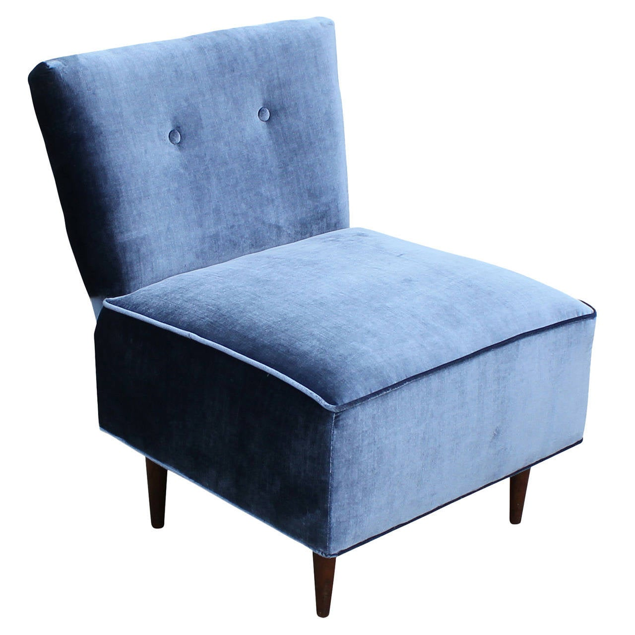 Velvet Slipper Chair Fantastic Blue Velvet Slipper Chair