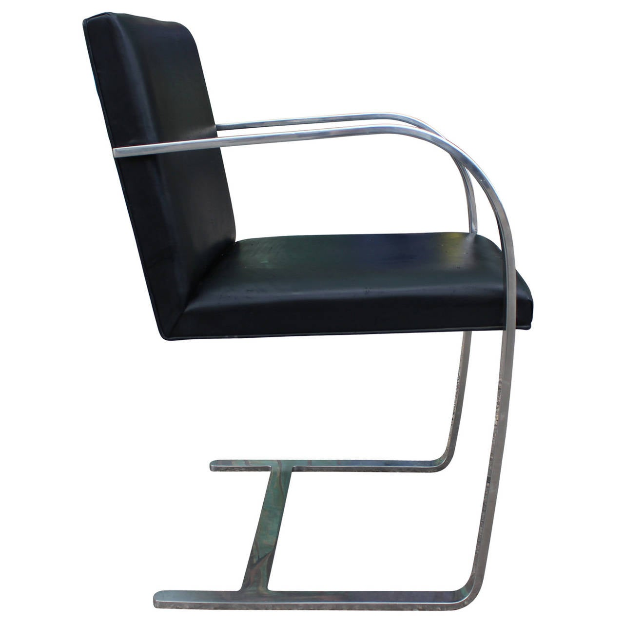 leather and chrome chairs rocker outdoor modern knoll brno cantilevered side