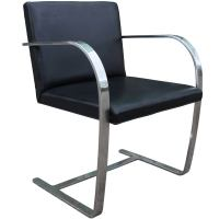 Modern Knoll Brno Leather and Chrome Cantilevered Side ...