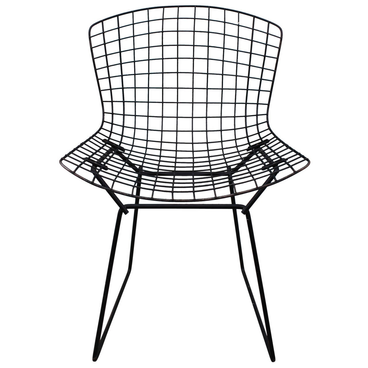 bertoia wire chair original fishing repairs set of six dining chairs at 1stdibs