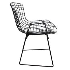 Wire Dining Chairs Armless Chair Uk Set Of Six Bertoia At 1stdibs