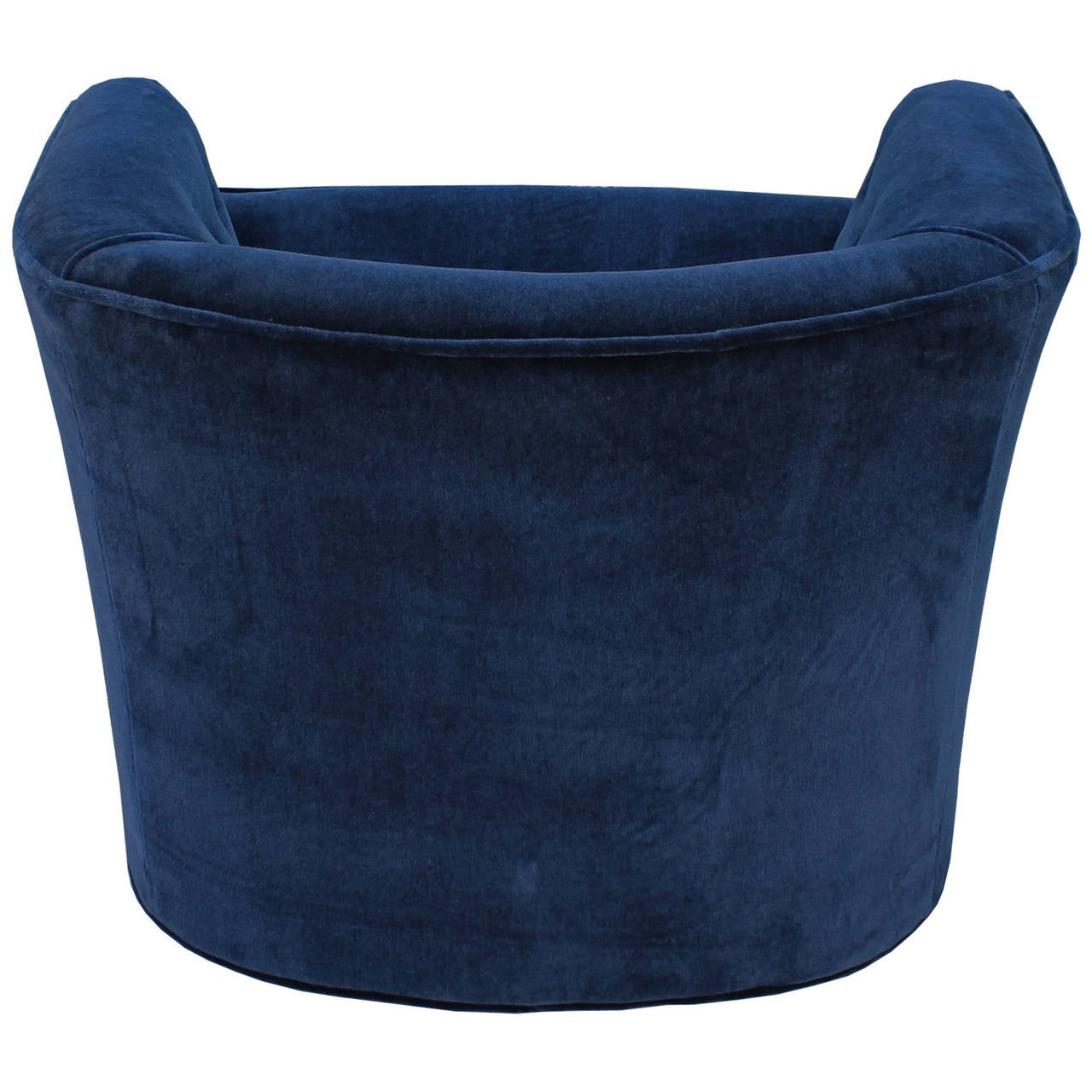 zac swivel chair what is a sofa grand pair of plush blue mohair velvet chairs at