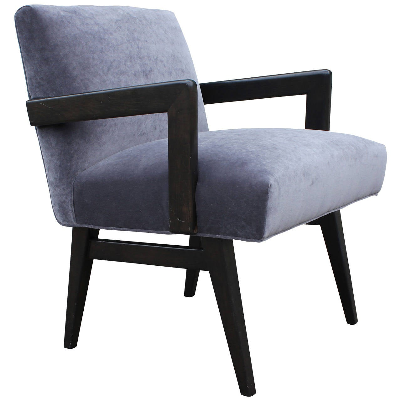grey modern armchairs walmart lift chairs mid century velvet armchair in the style of