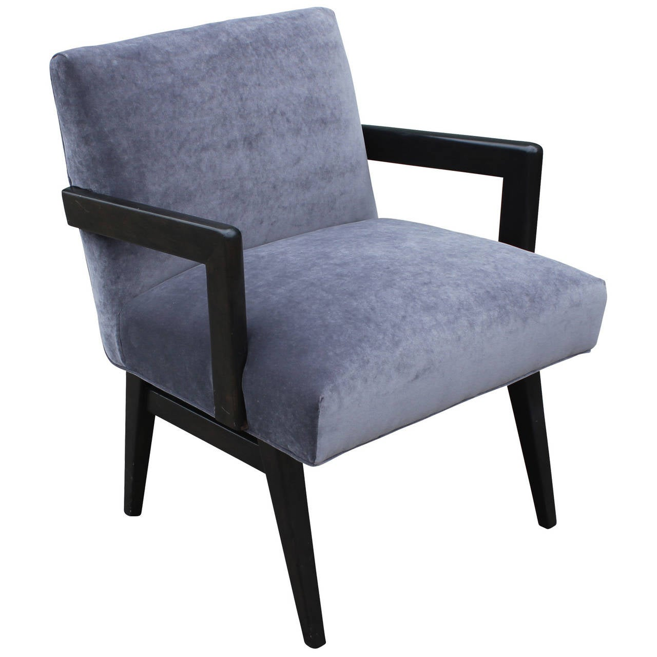 grey modern armchairs kettler garden chair covers mid century velvet armchair in the style of