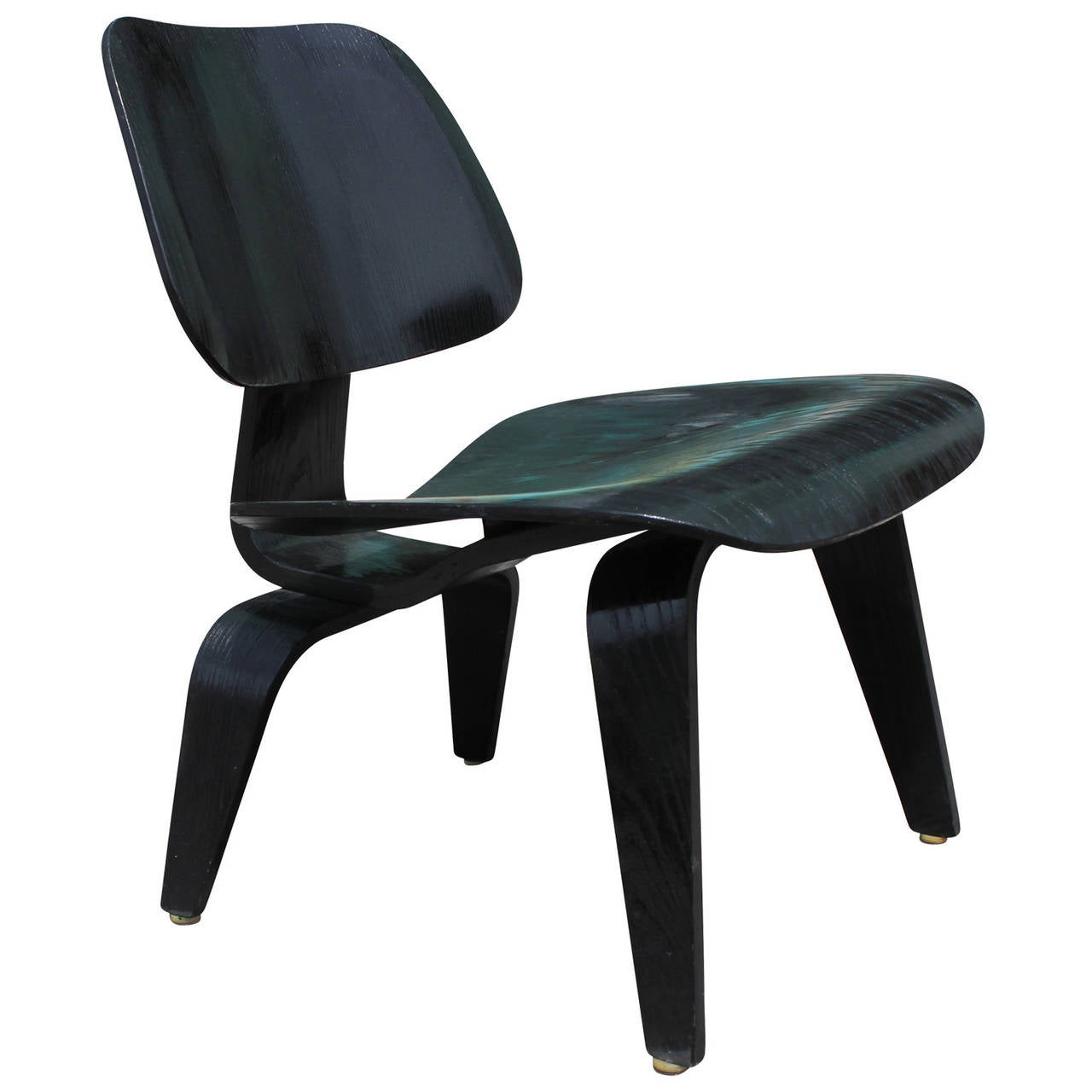 eames lcw chair antique wooden church chairs early black at 1stdibs