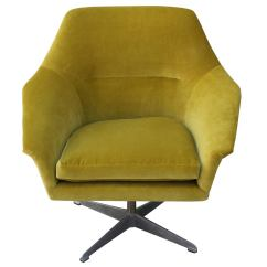 Green Velvet Swivel Chair Covers Grand Rapids Mi Pair Of Swedish Chairs At 1stdibs