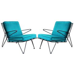 Teal Lounge Chair Target High Booster Seat Phenomenal Pair Of Velvet Italian Style Mid Century