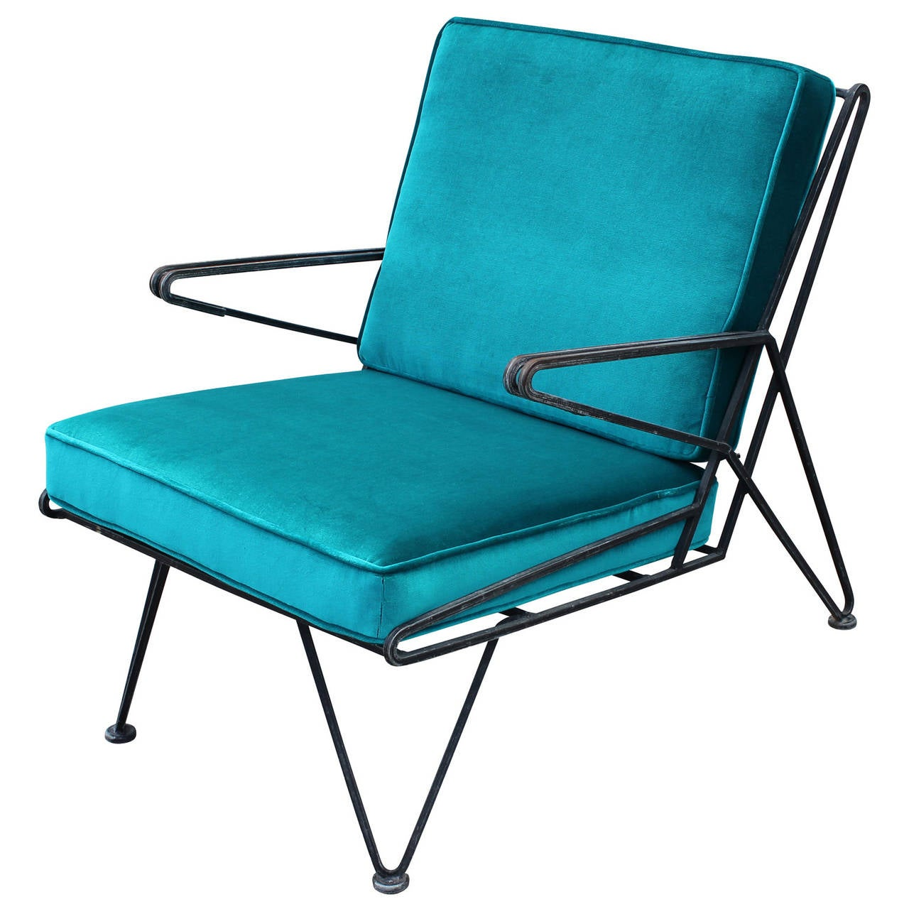 teal lounge chair brown leather dining room chairs phenomenal pair of velvet italian style mid century