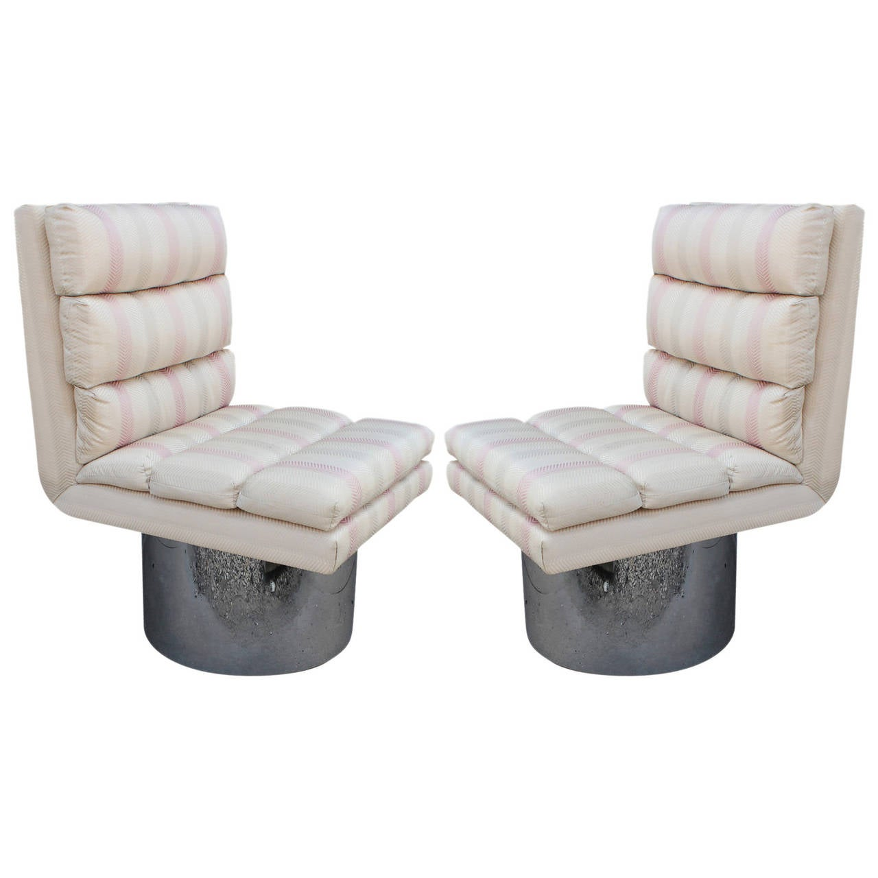 Barrel Swivel Chair Amazing Modern Swivel Lounge Chairs On Chrome Barrel Bases
