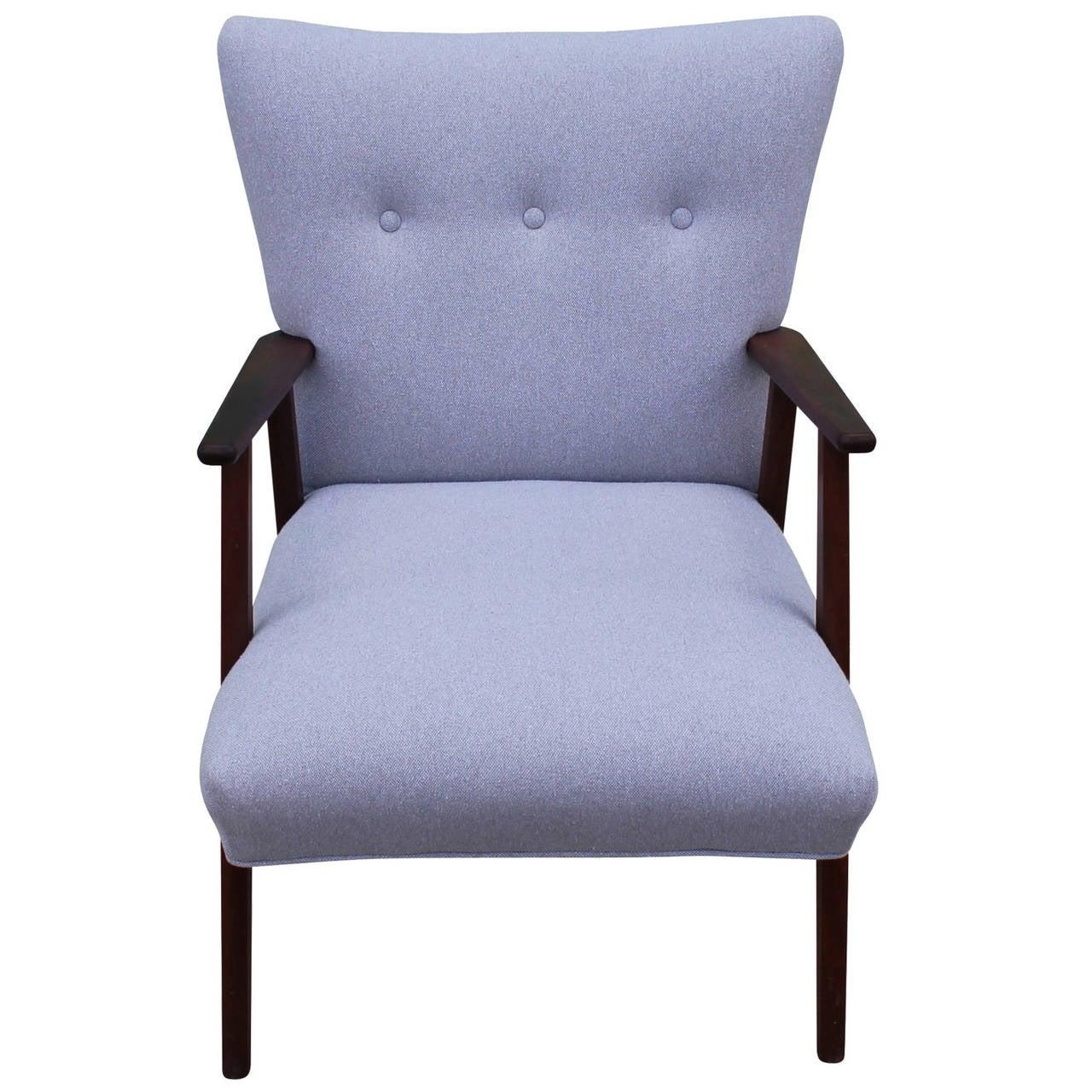 grey lounge chair kohls cushions elegant danish at 1stdibs