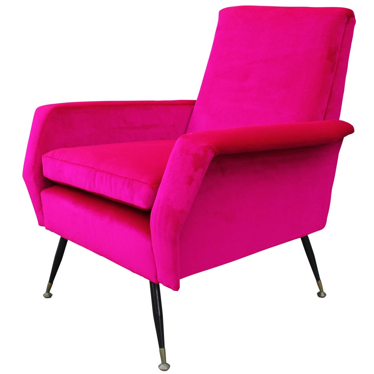 pink club chair dining room captain chairs incredible bold velvet italian lounge at 1stdibs